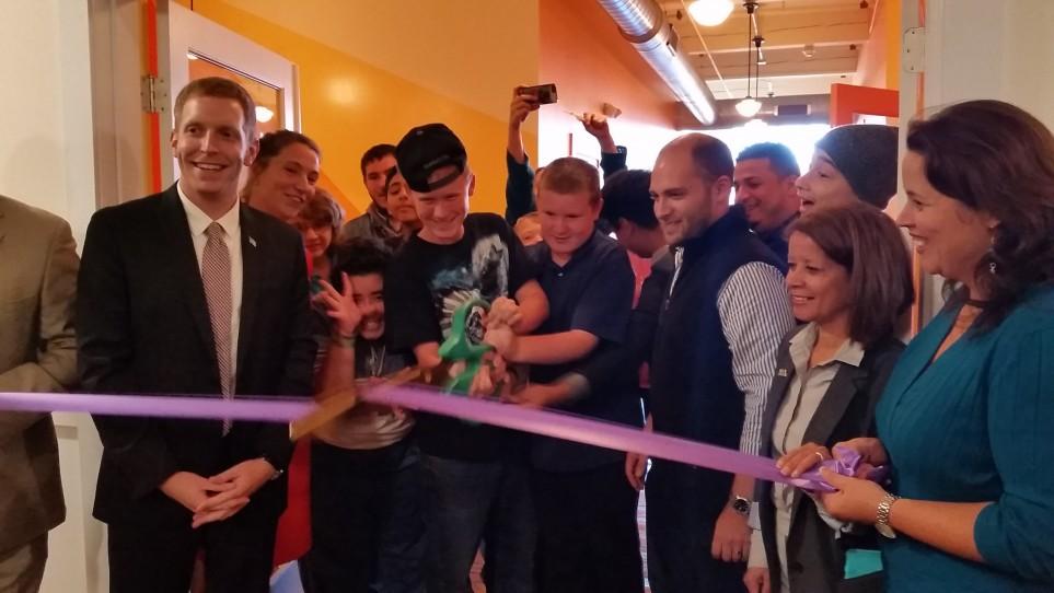 LightHouse ribbon-cutting with Mayor Alex Morse