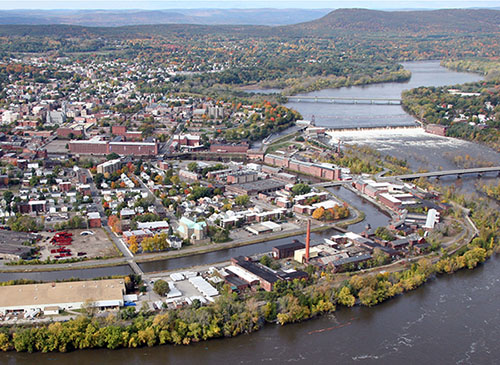 aerial photo of Holyoke, MA